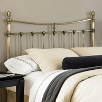 Leighton Metal Headboard in Antique Brass Finish