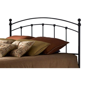 Sanford Curved Metal Headboard with Spindles