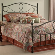 Sylvania French Roast Brown Metal Bed