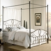 Sylvania French Roast Brown Canopy Metal Bed - FBG-B1177-B1677
