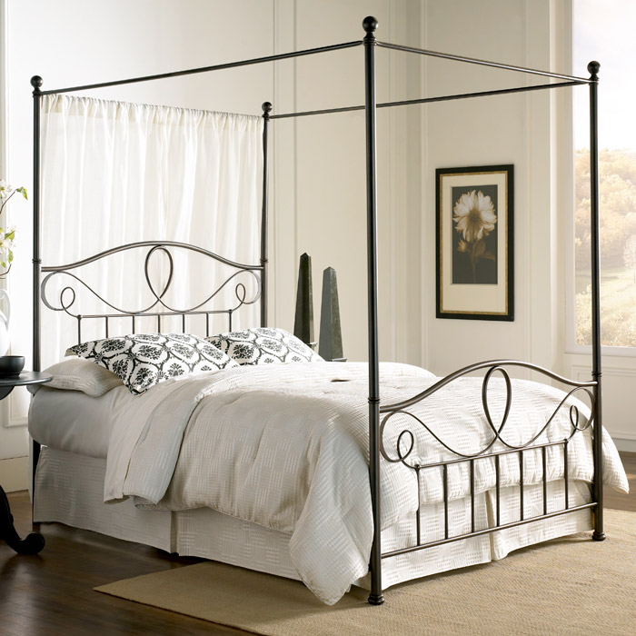 Sylvania French Roast Brown Canopy Metal Bed