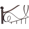 Sylvania French Roast Brown Metal Headboard with Finials - FBG-B1277