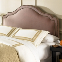 Versailles Upholstered Fabric Headboard in Brown Sugar