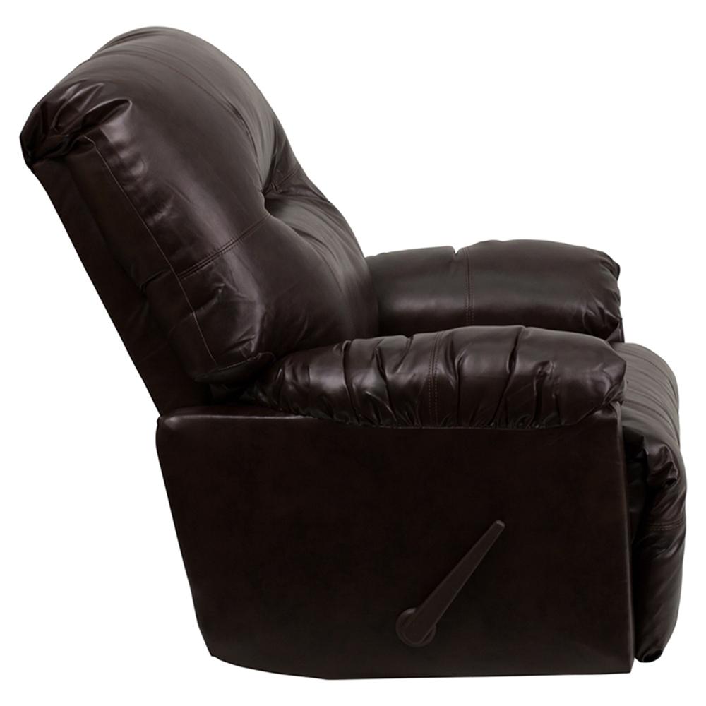 Bentley Leather Rocker Chair - Recliner, Brown