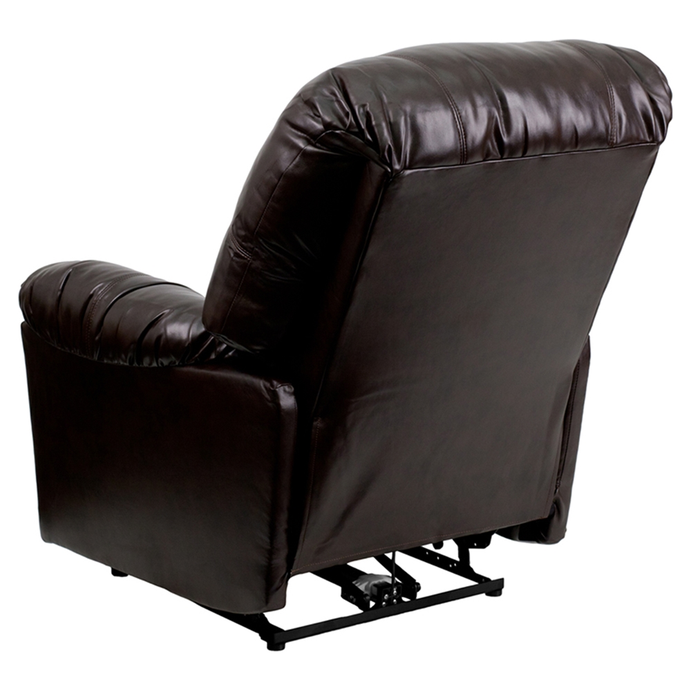 Push Button, Brown, Power Recliner