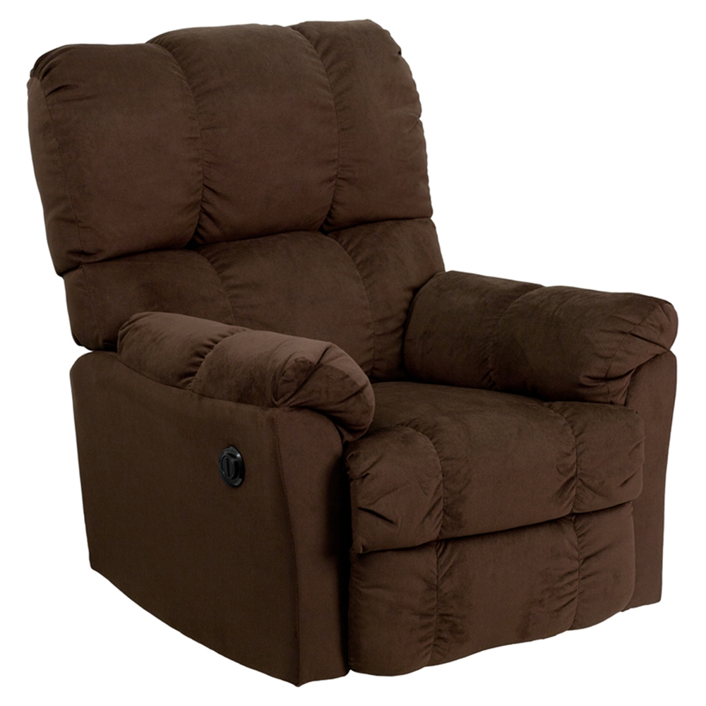 Top Hat Microfiber Chair Power Recliner Chocolate Dcg Stores