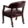 Conference Chair - Casters, Oxblood, Faux Leather - FLSH-B-Z100-OXBLOOD-GG
