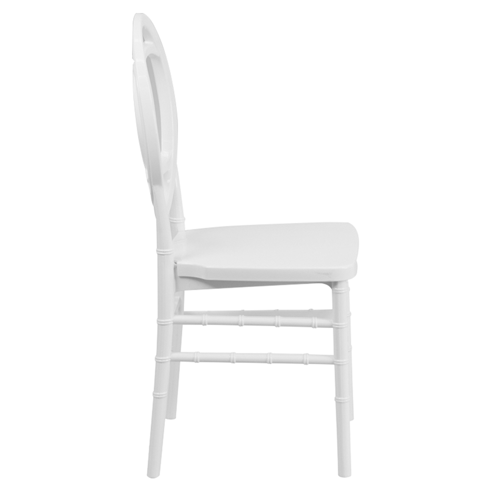 Hercules series resin royal stacking chair white dcg stores - White resin stacking chairs ...
