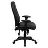 Leather Executive Swivel Office Chair - High Back, Tufted, Black - FLSH-BT-2350-BK-GG