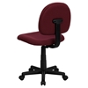 Fabric Swivel Task Chair - Low Back, Burgundy - FLSH-BT-660-BY-GG