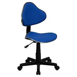 Fabric Swivel Task Chair - Height Adjustable, Blue