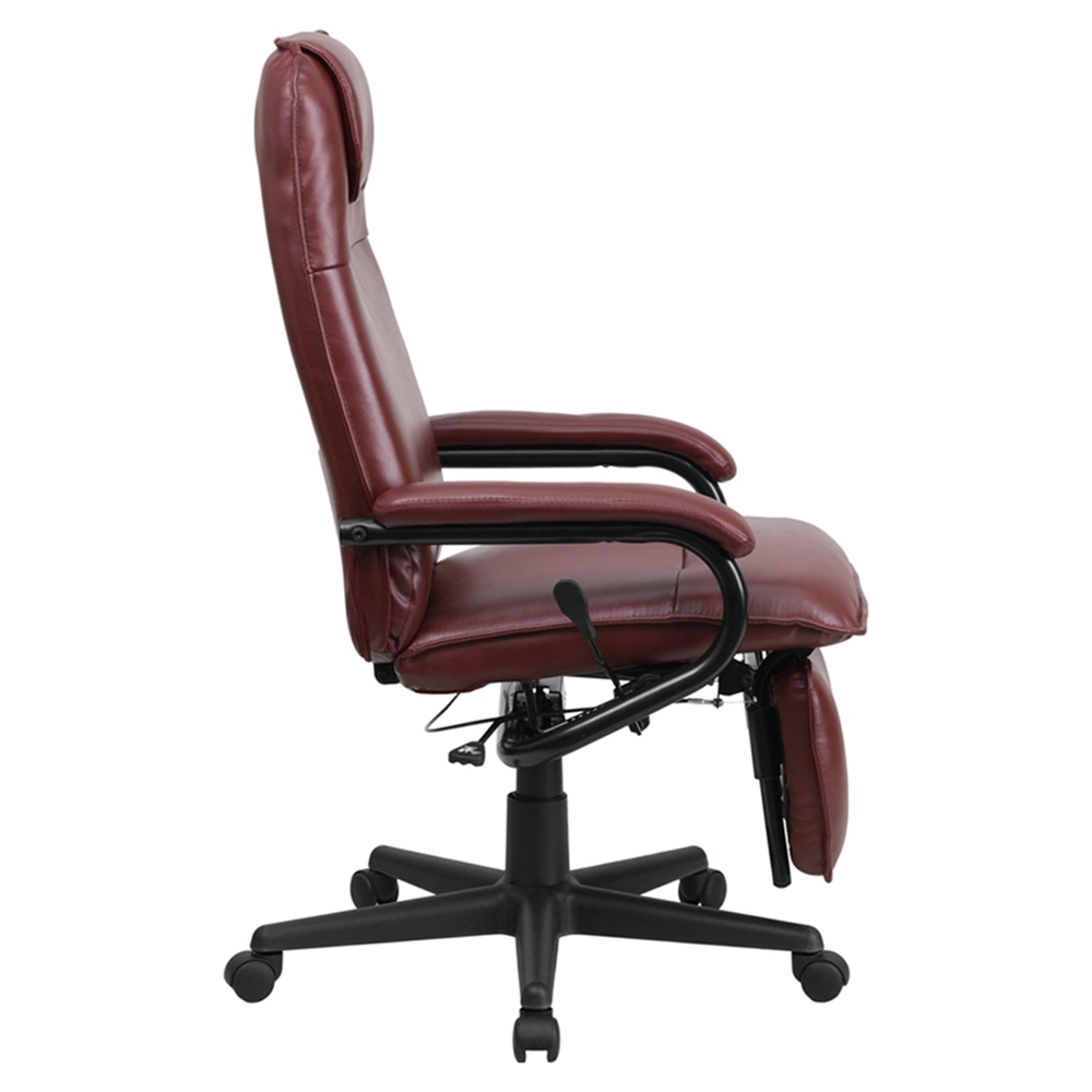Reclining Swivel Office Chair High Back Burgundy DCG Stores