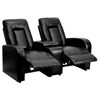 Eclipse Series 2-Seat Theater Seating Unit - Recliner, Black - FLSH-BT-70259-2-BK-GG