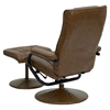 Leather Recliner and Ottoman - Wrapped Base, Palimino - FLSH-BT-7862-PALIMINO-GG