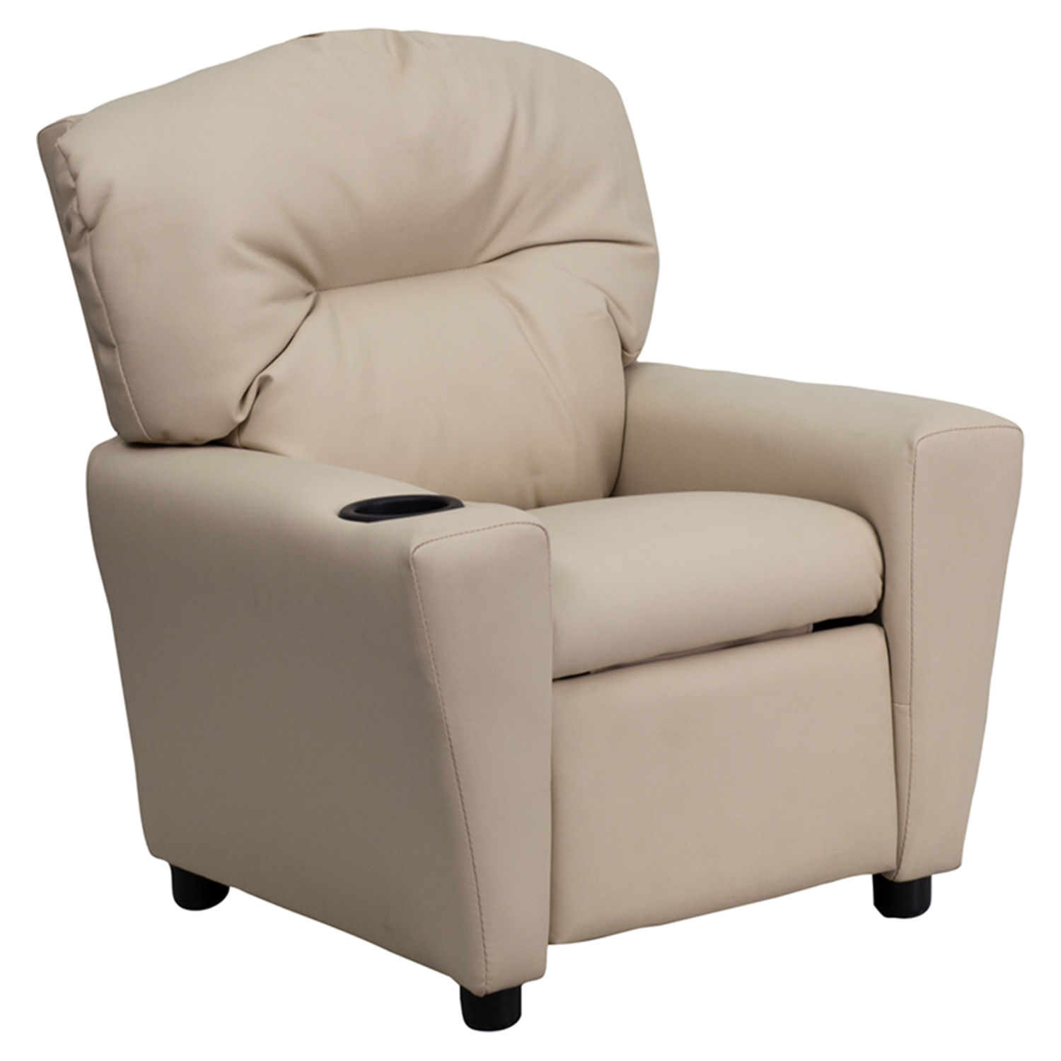 Upholstered Kids Recliner Chair - Cup Holder Beige  sc 1 st  DCG Stores & Kids Upholstered Chairs | DCG Stores