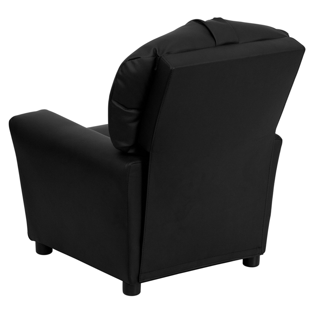 Leather Kids Recliner Chair Cup Holder Black Dcg Stores