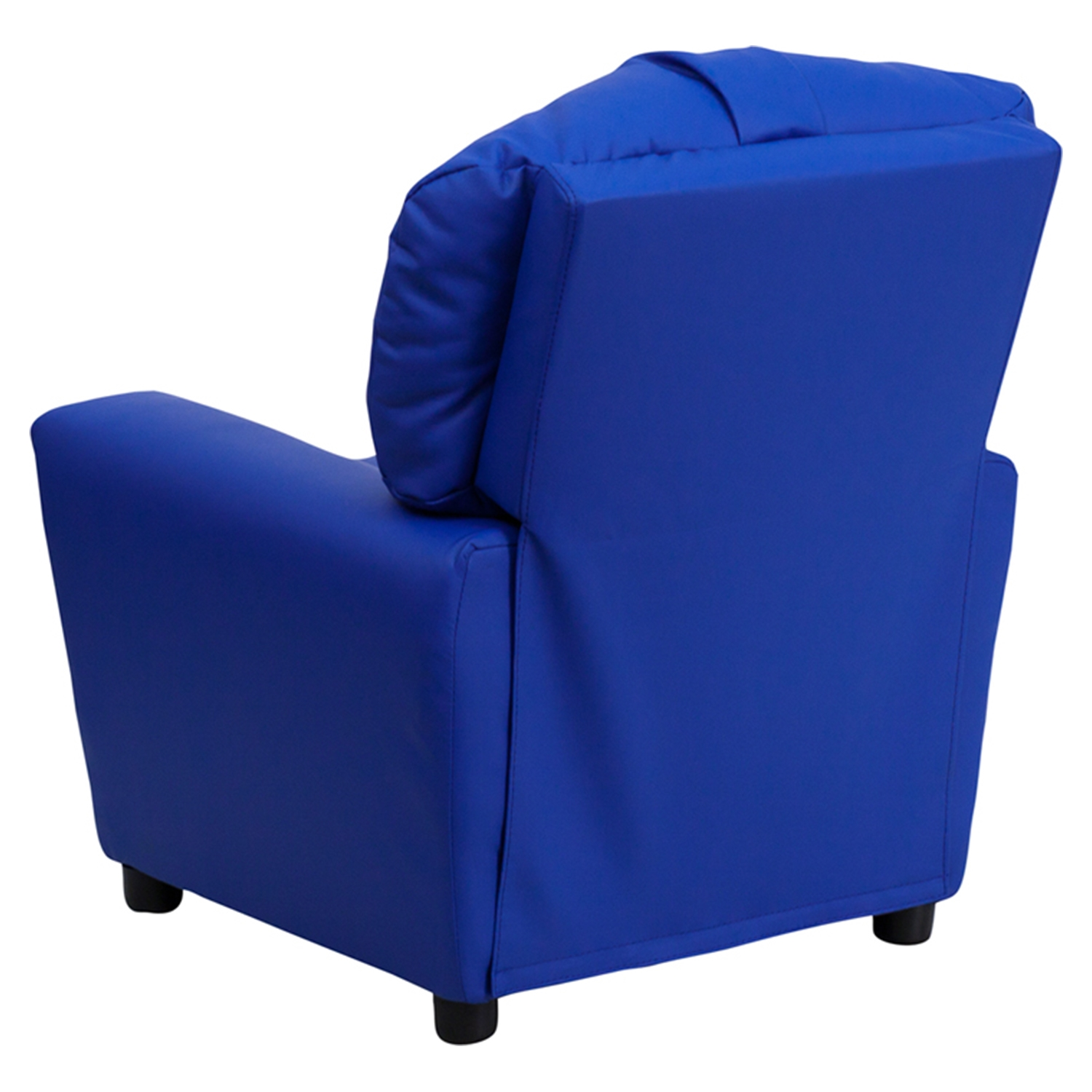 ... Upholstered Kids Recliner Chair   Cup Holder, Blue   FLSH BT 7950  ...