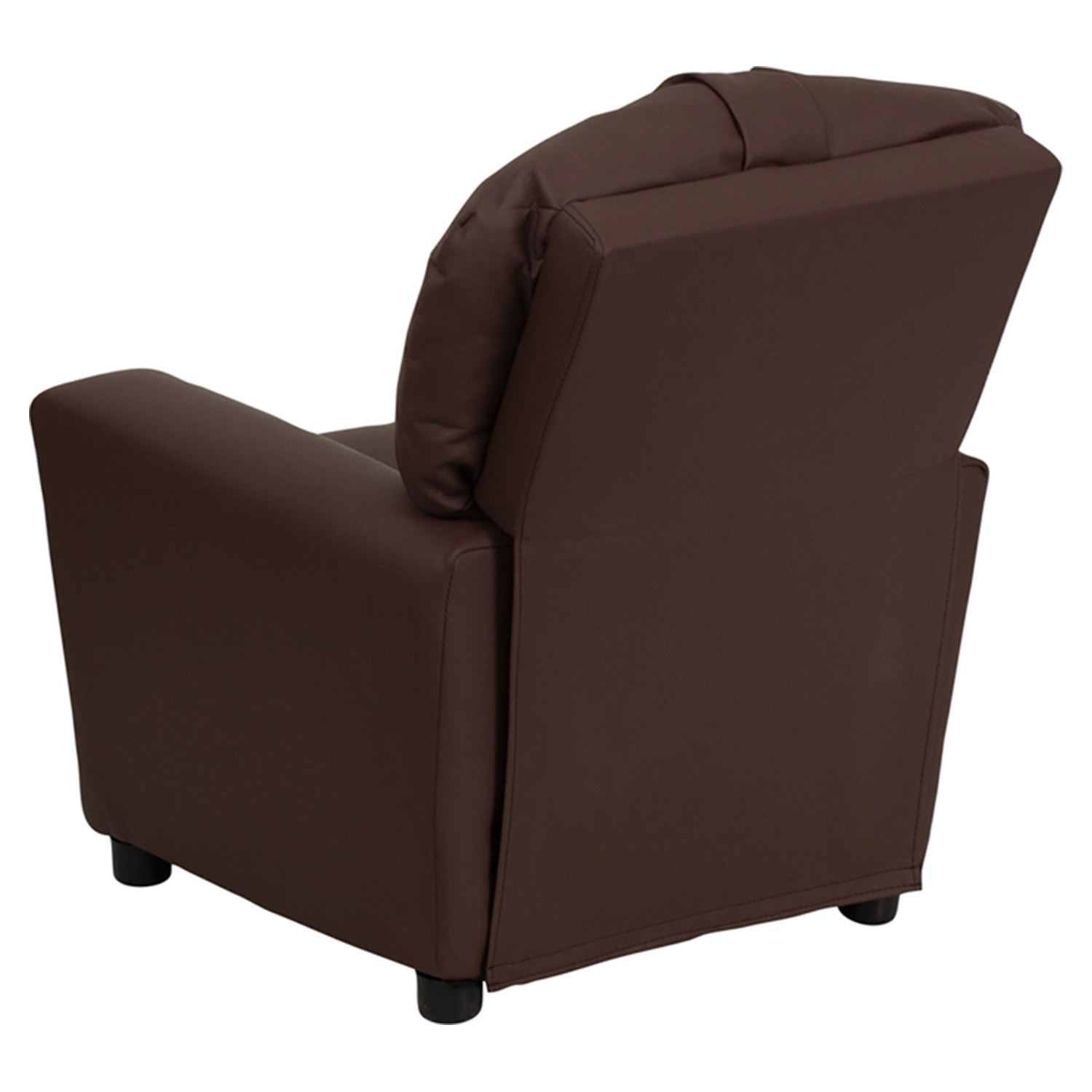 ... Leather Kids Recliner Chair   Cup Holder, Brown   FLSH BT 7950  ...