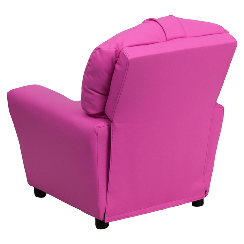 ... Upholstered Kids Recliner Chair - Cup Holder Hot Pink - FLSH-BT-7950 ...  sc 1 st  DCG Stores & Upholstered Kids Recliner Chair - Cup Holder Hot Pink   DCG Stores