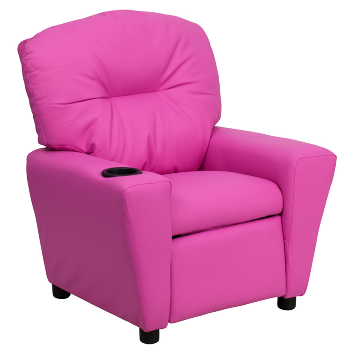 Upholstered Kids Recliner Chair   Cup Holder, Hot Pink   FLSH BT 7950 ...