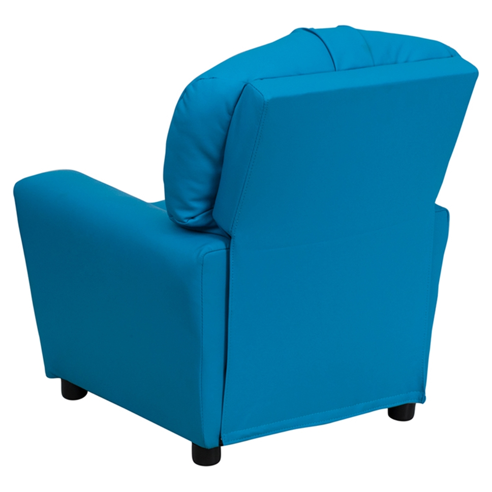 turquoise kids chair upholstered kids recliner chair cup holder turquoise