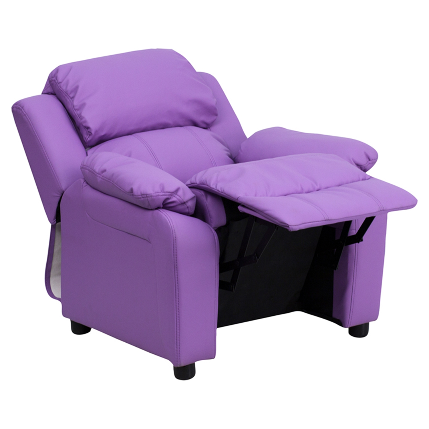 ... Deluxe Padded Upholstered Kids Recliner - Storage Arms Lavender - FLSH-BT-7985  sc 1 st  DCG Stores & Deluxe Padded Upholstered Kids Recliner - Storage Arms Lavender ... islam-shia.org