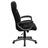 Leather Executive Adjustable Office Chair - High Back, Swivel, Black - FLSH-BT-9177-BK-GG