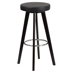 "Trenton Series 29"" Barstool - Faux Leather, Black"