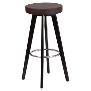 "Trenton Series 29"" Barstool - Faux Leather, Brown"