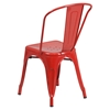 Metal Stackable Chair - Red - FLSH-CH-31230-RED-GG
