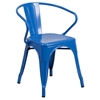 Metal Chair - with Arms, Blue - FLSH-CH-31270-BL-GG