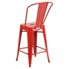 "24"" Metal Stool - Counter Height, Red - FLSH-CH-31320-24GB-RED-GG"