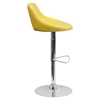 Adjustable Height Barstool - Bucket Seat, Faux Leather, Yellow - FLSH-CH-82028-MOD-YEL-GG