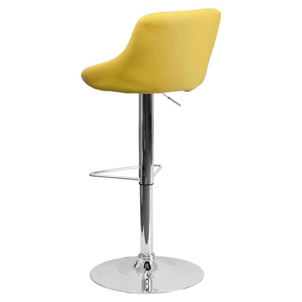Adjustable Height Barstool Bucket Seat Faux Leather