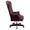 Leather Executive Swivel Office Chair - High Back, Button Tufted, Burgundy - FLSH-CI-360-BY-GG