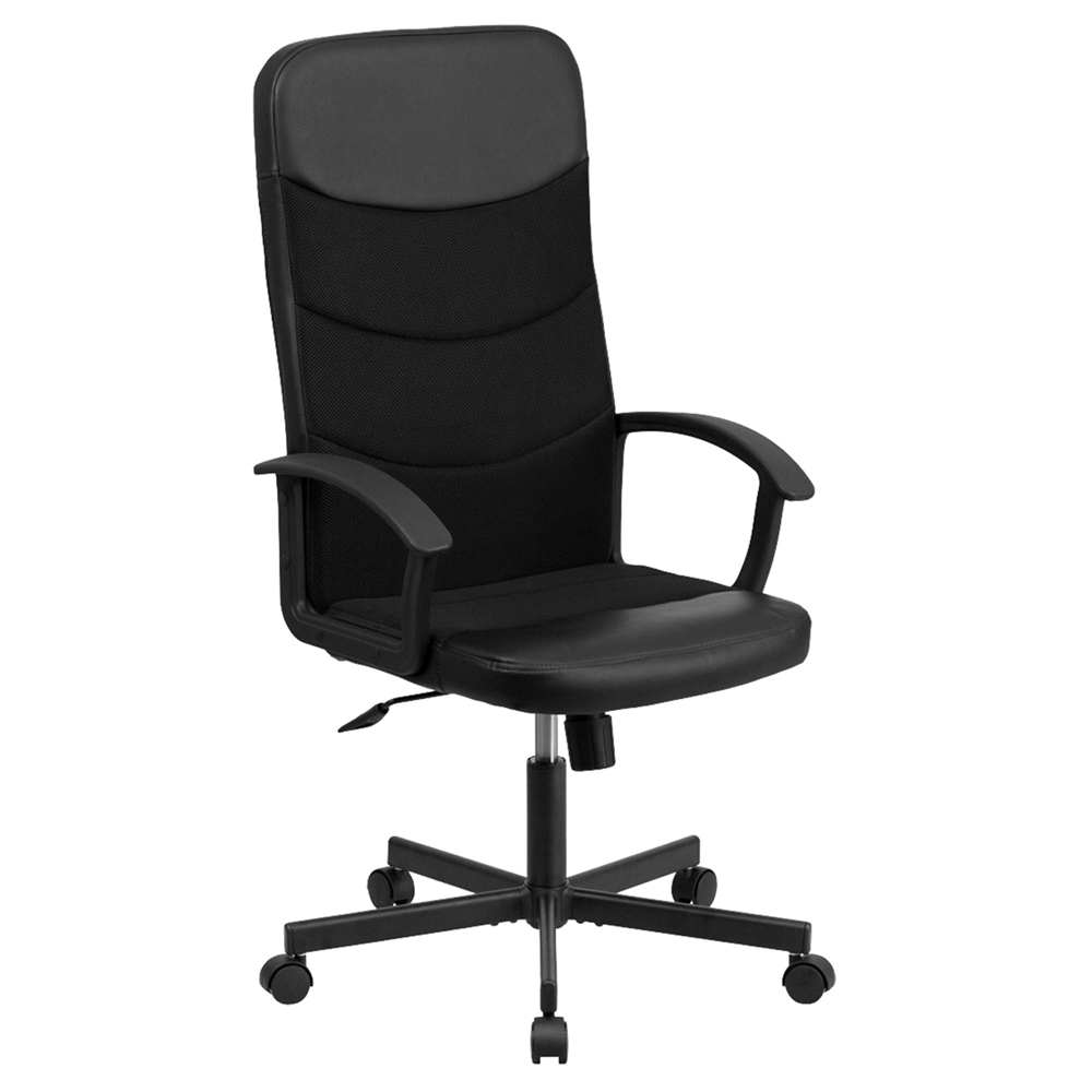 Racing Executive Swivel Office Chair High Back Black DCG Stores