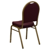 Hercules Series Stacking Banquet Chair - Dome Back, Burgundy, Gold Frame - FLSH-FD-C03-ALLGOLD-EFE1679-GG