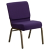 "Hercules Series 21"" Extra Wide Fabric Stacking Church Chair - Royal Purple - FLSH-FD-CH0221-4-GV-ROY-GG"