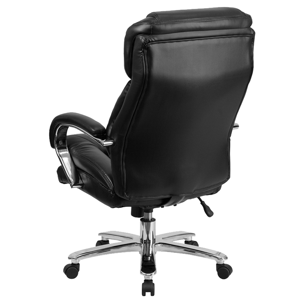 Hercules Series Big And Tall Executive Office Chair Loop Arms Black DCG
