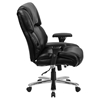 Hercules Series Big and Tall Executive Chair - Swivel, Black Leather - FLSH-GO-2149-LEA-GG