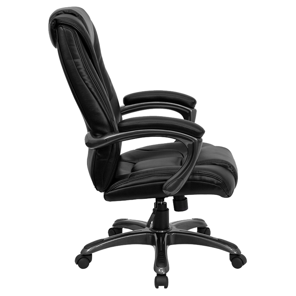 executive swivel office chair high back height adjustable black dcg stores. Black Bedroom Furniture Sets. Home Design Ideas