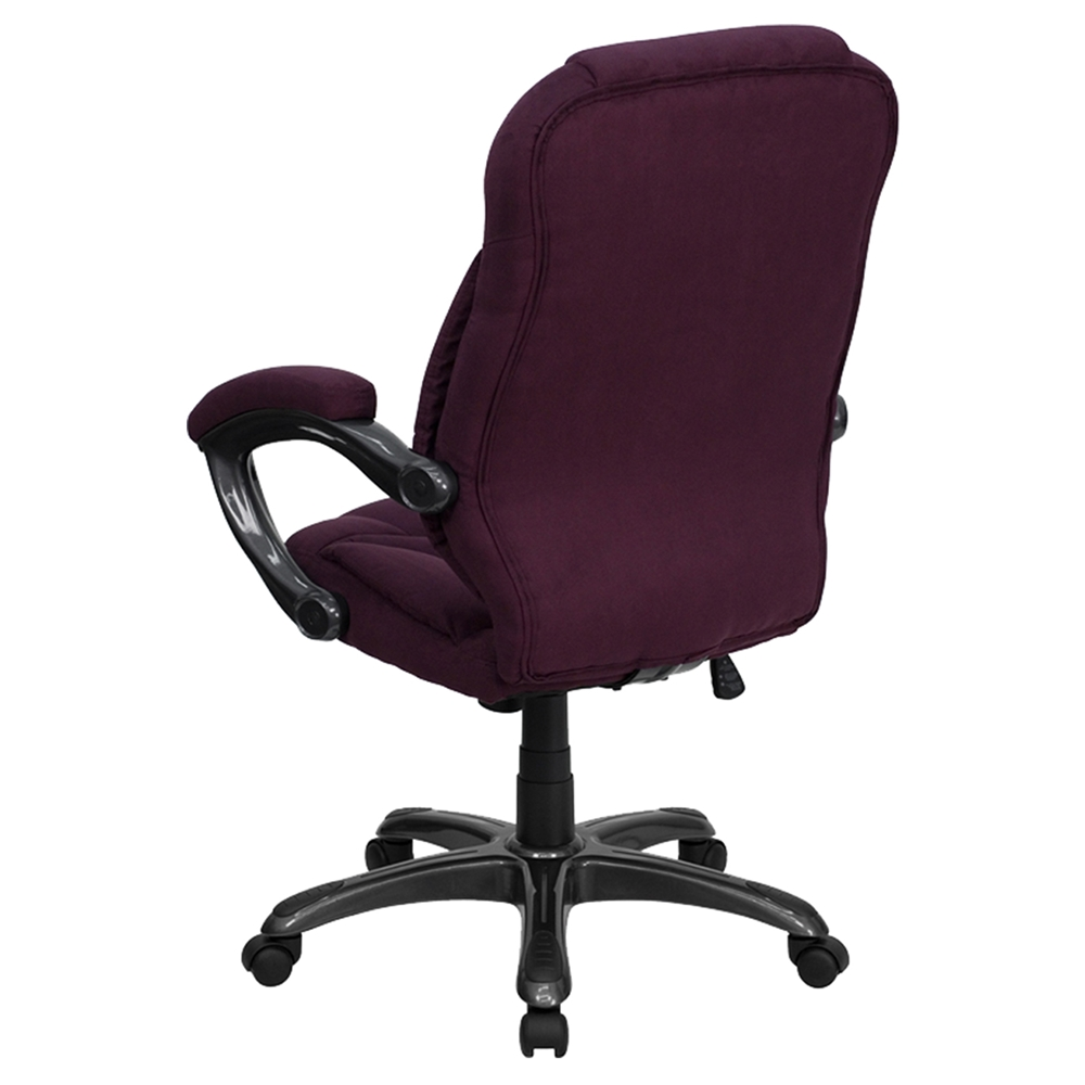 Executive Swivel Office Chair High Back Grape