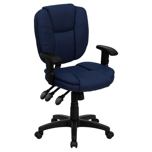 Ergonomic swivel task chair mid back multi functional navy blue dcg stores - Ergo kids task chair ...