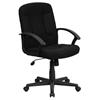 Executive Swivel Office Chair - Mid Back, Nylon Arms, Black - FLSH-GO-ST-6-BK-GG