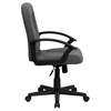 Executive Swivel Office Chair - Mid Back, Nylon Arms, Gray - FLSH-GO-ST-6-GY-GG