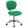 Mesh Swivel Task Chair - Mid Back, Bright Green - FLSH-H-2376-F-BRGRN-GG