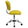 Mesh Swivel Task Chair - Mid Back, Yellow - FLSH-H-2376-F-YEL-GG