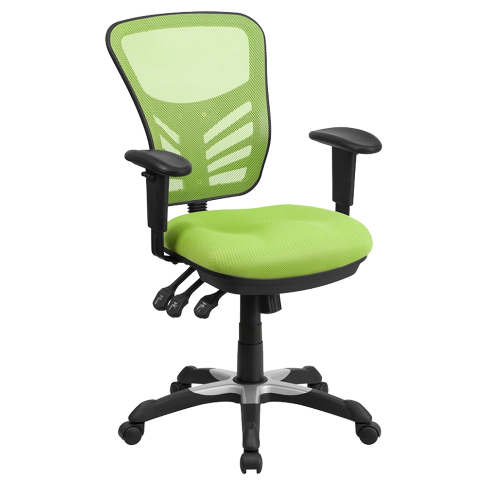 Mid Back Mesh Swivel Task Chair Triple Paddle Control