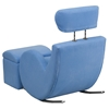 Hercules Series Fabric Rocking Chair - Storage Ottoman, Light Blue - FLSH-LD-2025-LTBL-GG
