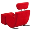 Hercules Series Fabric Rocking Chair - Storage Ottoman, Red - FLSH-LD-2025-RD-GG